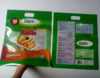 Three sides sealed color-printed plastic frozen food packaging bag