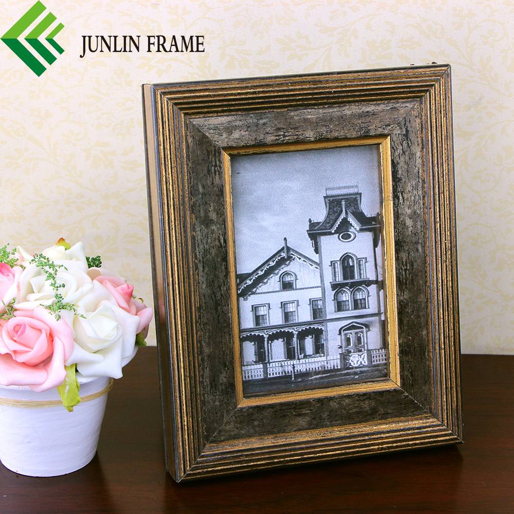 Factory wholesale pine wood antique picture frame