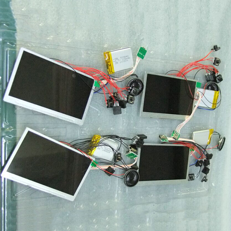 工場供給、低価格 4.3 インチ Tft 液晶ディスプレイタッチスクリーンボタンカスタマイズ