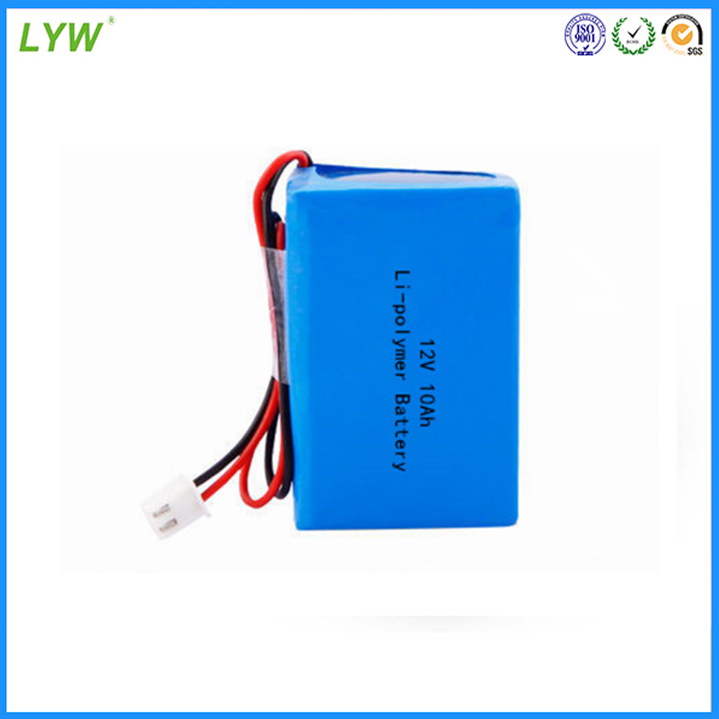 12V 10Ah Rechargeable lipo battery pack