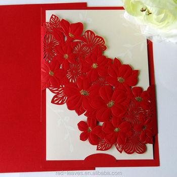Laser cut elegant flower wedding card design folding wedding laser cut elegant flower wedding card design folding wedding invitation card english invitation card stopboris Images