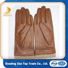 black high quality imitation wool leather skin driving gloves
