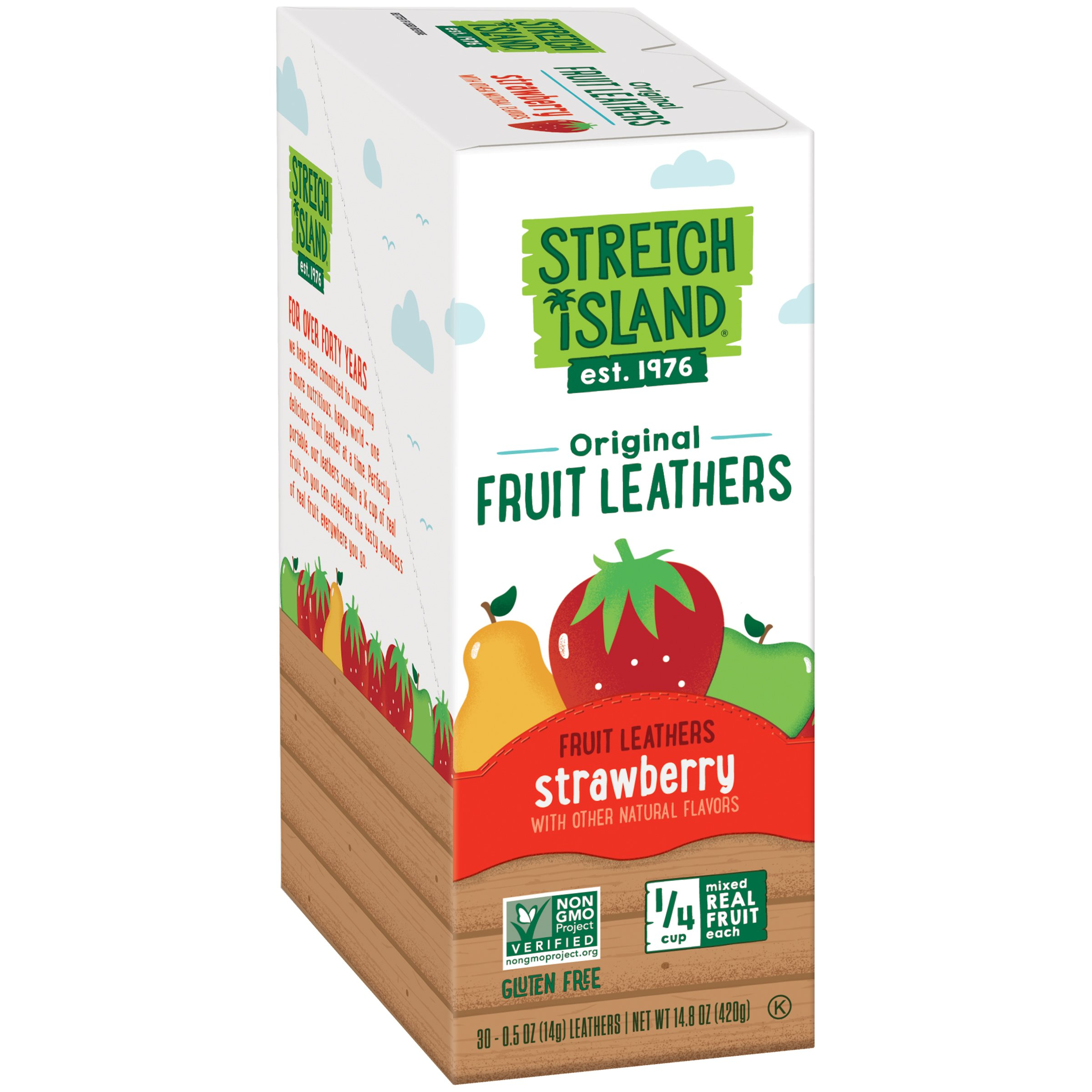 Stretch Island Original Fruit Leather Snacks, Strawberry, 0.5-Ounce Strips, 30 Count