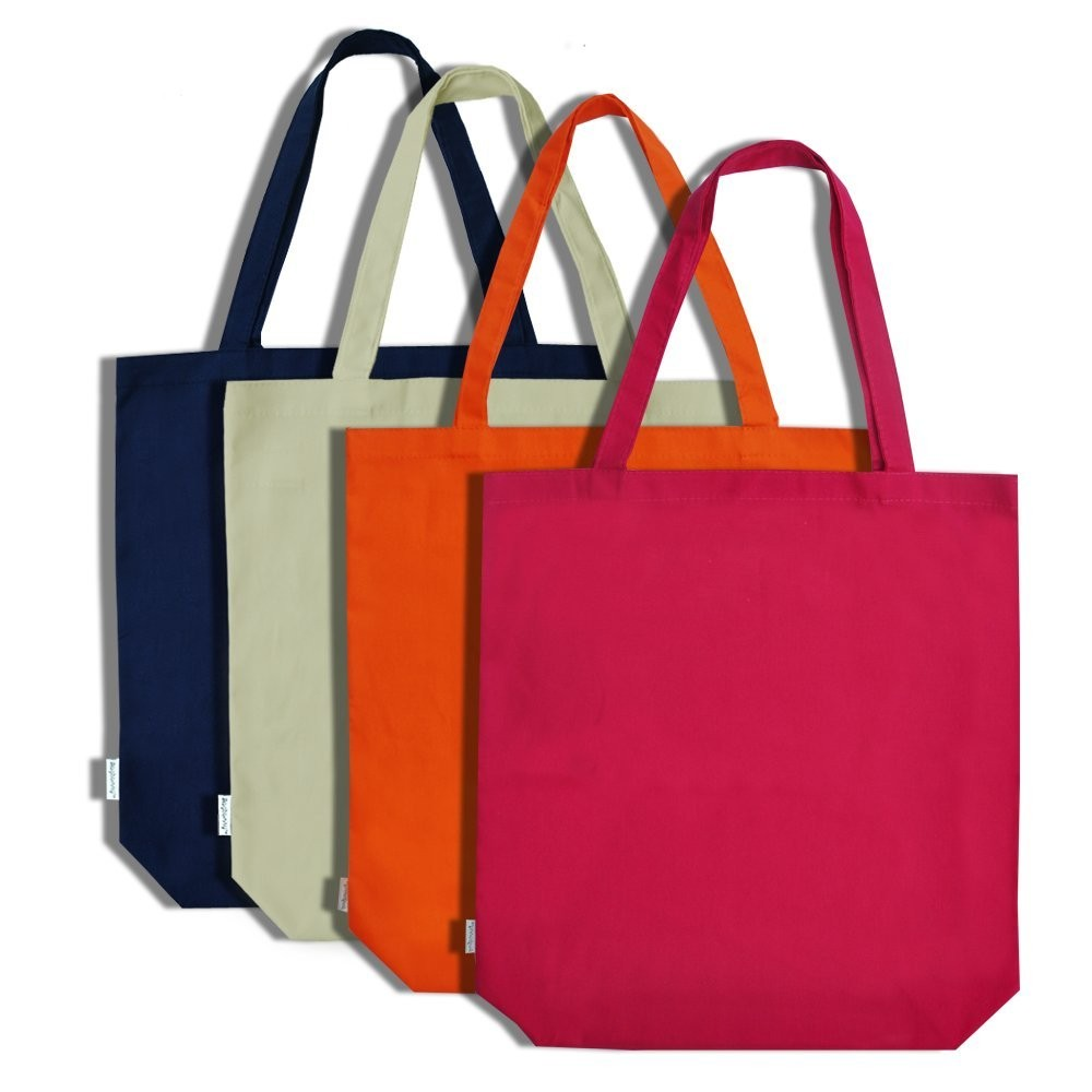 Cotton Canvas Ping Tote Bag Grocery