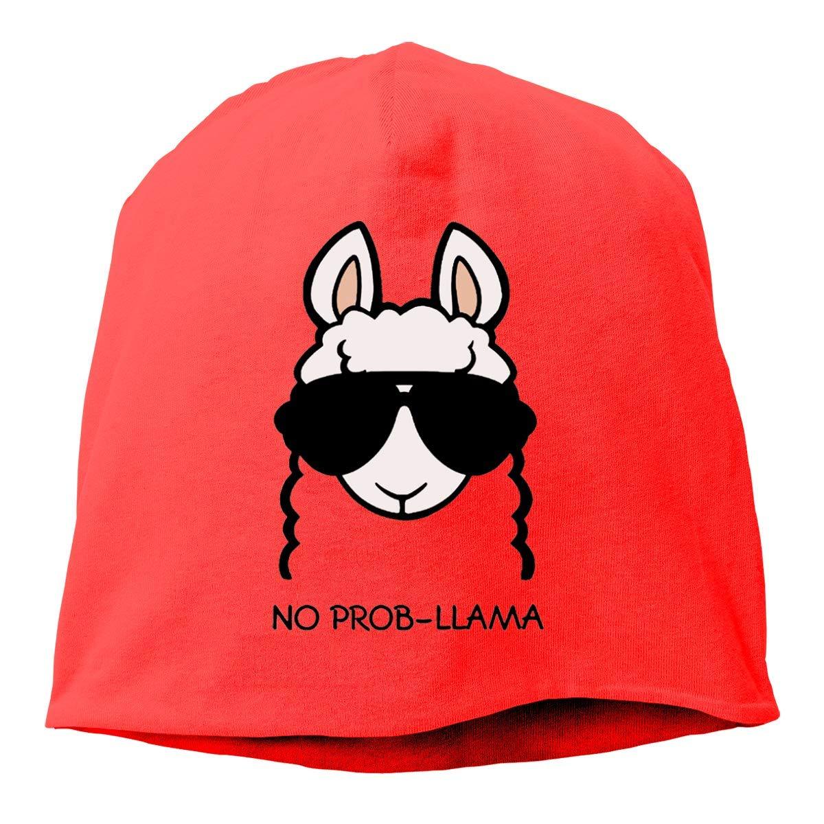 5ef64532253 Get Quotations · Joseph Maszeroski Cartoon Funny No Prob Llama Sunglasses  Soft Cotton Hat Warm Beanies Skull Cap
