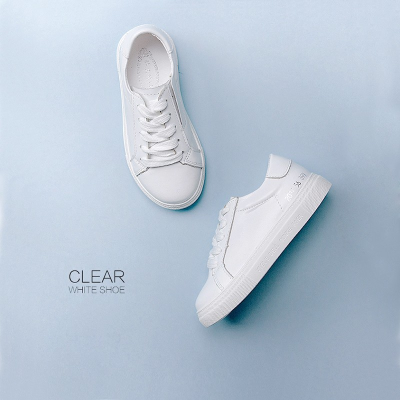 HOT Fashion Leather minimalist style Kids casual shoes sneakers for children Com project white shoes footwear Wholesale