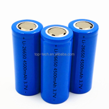 26650 battery3.7V 4500mAh Rechargable Lithium-ion Battery for torch LED light