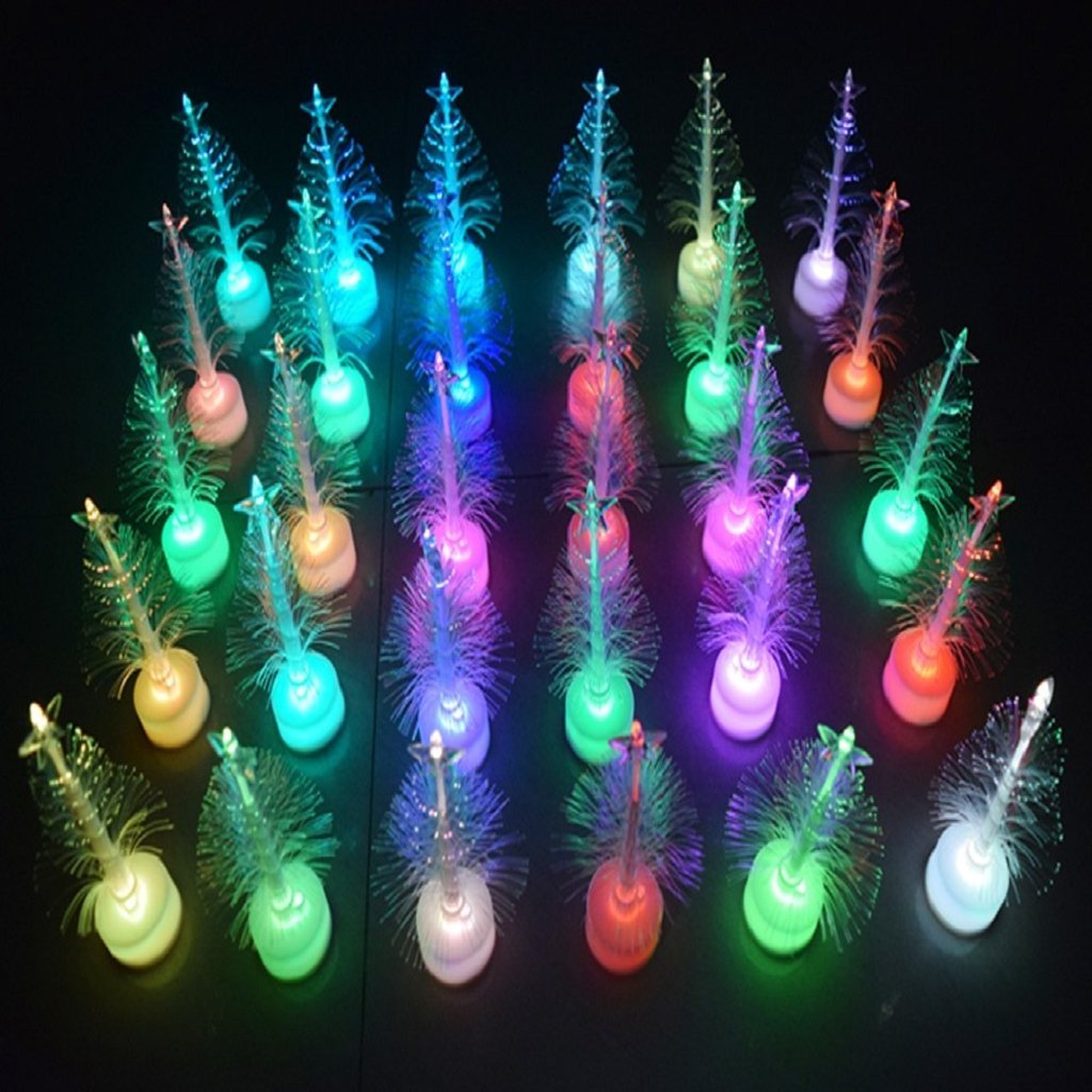 tiean christmas xmas tree color changing led light lamp home decoration