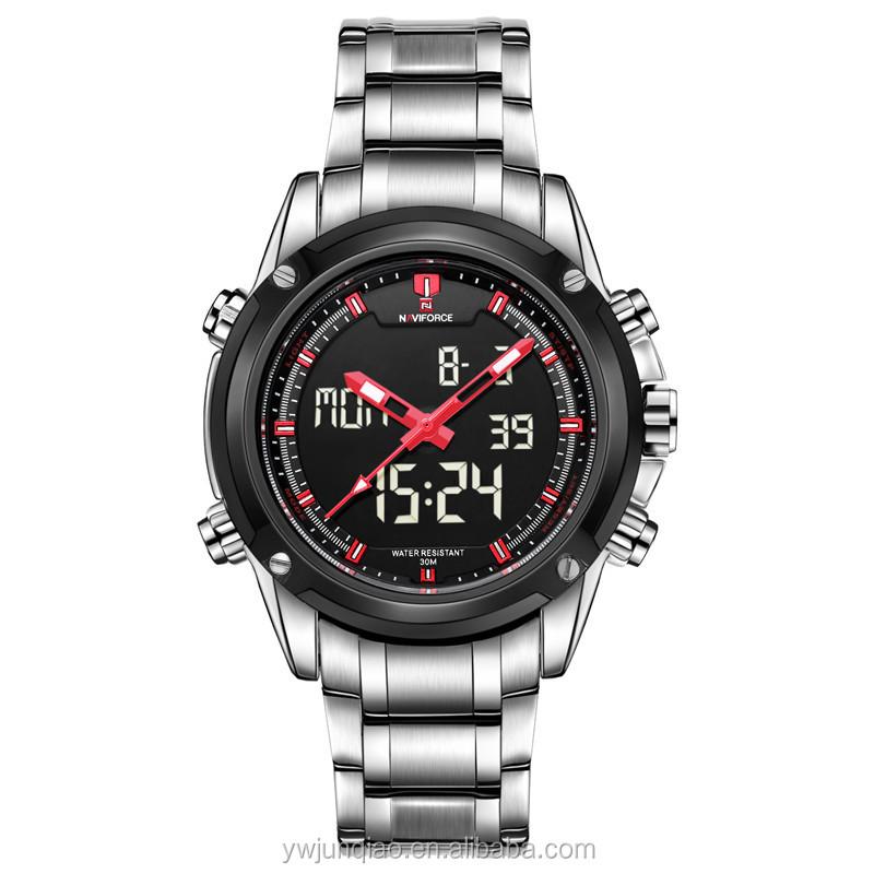 naviforce 9050 steel military sport watch men quartz digital watch naviforce 9050 steel military sport watch men quartz digital watch led clock casual wrist watches luxury