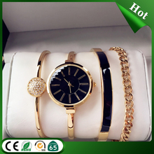 2016 new stylish women watch set bracelet watch set and watch gift sets for wedding birthday