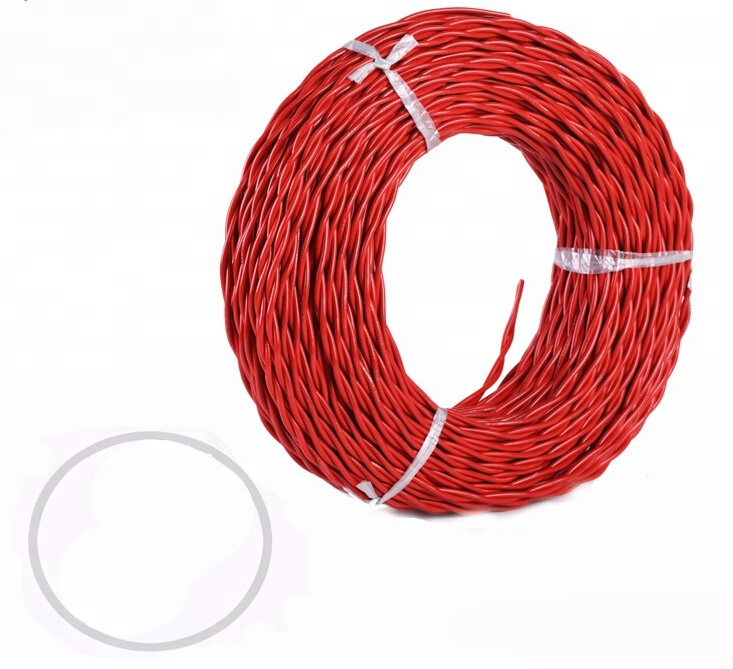 RVS 2.0mm vierkante pvc draad twisted power kabel