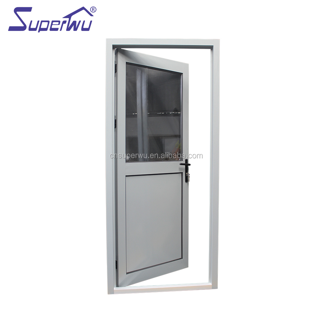 Australia standard double glass aluminium hinged door half glass half aluminum panel casement door for residential