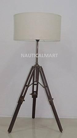 Get Quotations · NAUTICALMART ANTIQUE DESIGNERu0027S BRASS FINISH TRIPOD TABLE  LAMP