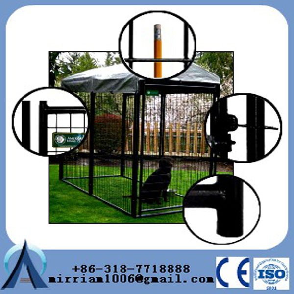 New runs dog house steel structure dog runs