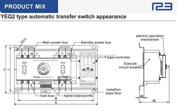 HTB1kV_zIpXXXXb_XVXXq6xXFXXXW yuye yeq2y 63 800a cb class 220v automatic transfer switch socomec changeover switch wiring diagram at edmiracle.co
