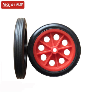 9 inch air compressor hollow plastic solid rubber wheel