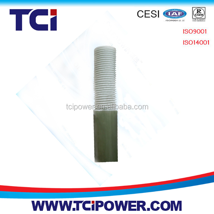 Epoxy electric insulator for fiberglass insulator
