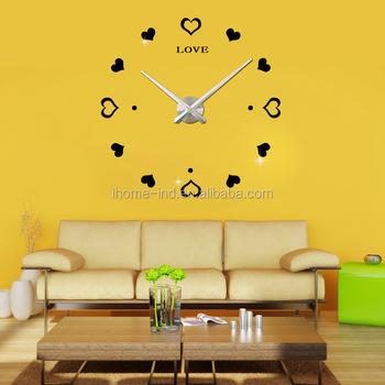 Home Living Fancy Decorative Wall Clocks Wall Clock Big Size Diy ...