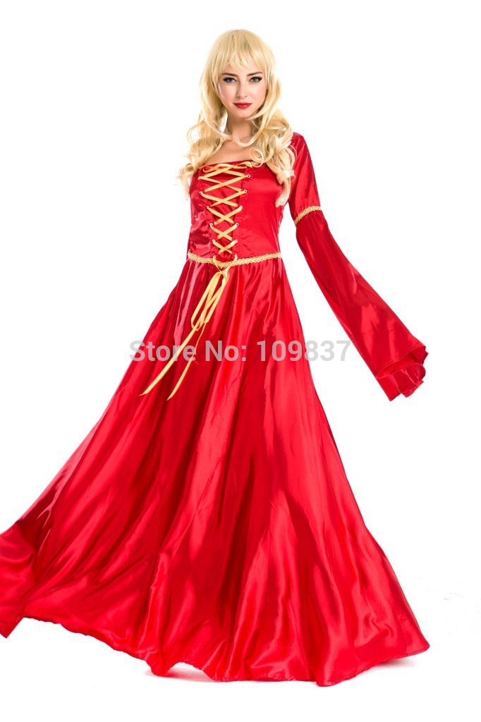Get Quotations · Women Halloween Red Retro Palace Costumes Cosplay Women  Vintage Court Apparel D1323E cbd7cd6164ed