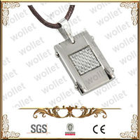 Creative Carbon Fiber Inlayed Stainless Steel Pendant 2013 Novelties