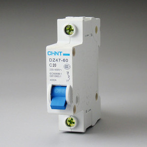 Genuine Chint air switch type C mini circuit breaker DZ47 1P 40A.50A.60A