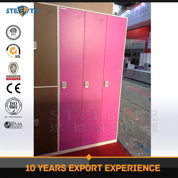 Steelite Home Cheap Metal Clothes Locker / 3 Door Godrej Steel ...