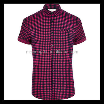 36fab14fe0c62 Professional Customize Bright Color Short Sleeve Flannel Shirt Men ...