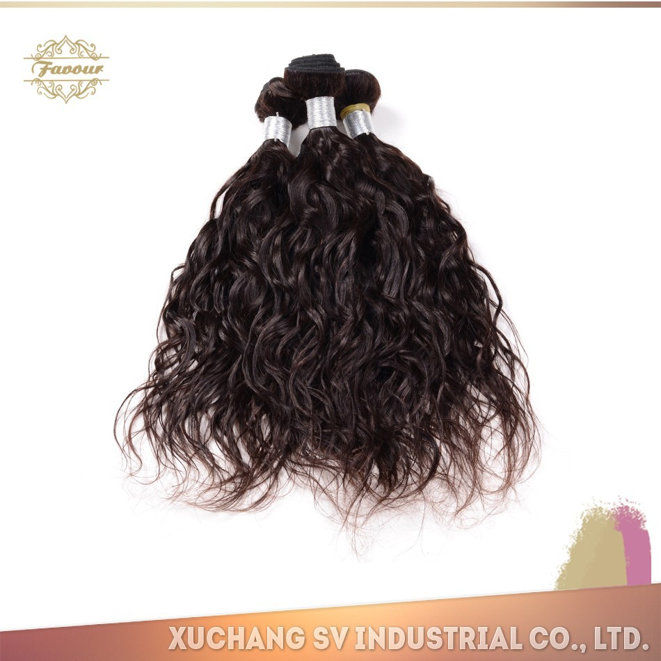 Real human virgin remy hair brazilian wet and wavy hair weft from Xuchang