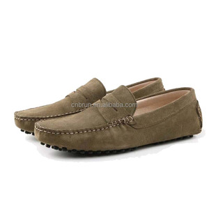 Italian Fashion Mens Casual Suede Driving loafers