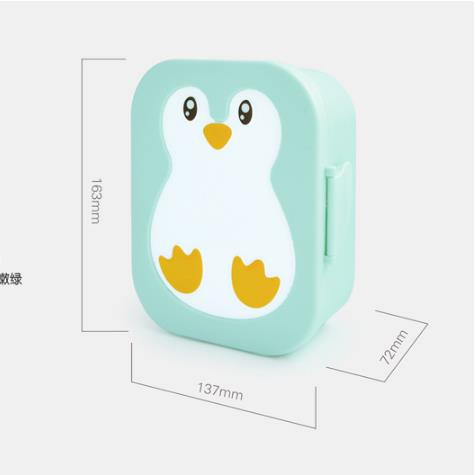 Fashion Cartoon Kids Plastic Lunch Box Portable Microwave Heatable Storage Lunch Box