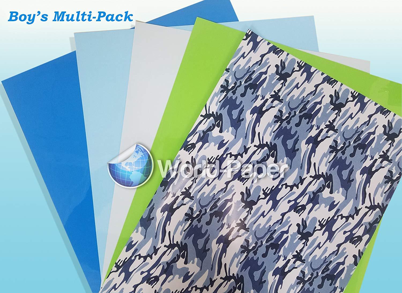Boy's Multi-Pack Heat Transfer Vinyl 5 Sheets HTV Soft-Stretch.