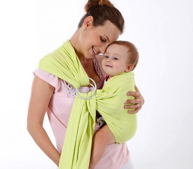 Satu ukuran cocok untuk semua bayi sling wrap pembawa dengan kain ramah lingkungan