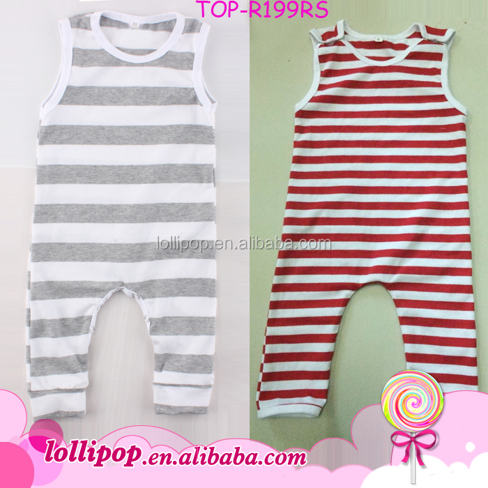 Wholesale Carters Baby Clothes Heather Gray Stripes One Piece Jumpsuit BodySuit Sleeveless Sleep N Play Plain Blank Onesie Baby
