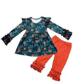 f1f340790 2018 Newborn baby girls boutique outfits long sleeve little coati print  milk silk fall childrens clothing