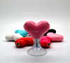 Promotional gifts heart-shaped suction dc3.5mm headphone 2 jacks splitter