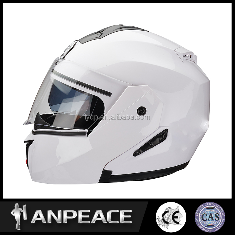 Light weight PC material motorcycle flip up helmet
