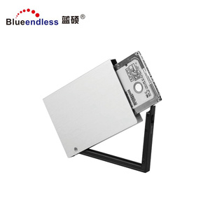 Aluminum hdd enclosure toolfree BS-MR23A 2 5 inch 2 hdd caddy 5Gbps hdd case 25