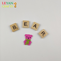 DIY Creative Removable Scrabble English Numerals Wooden Crafts Letter Pieces