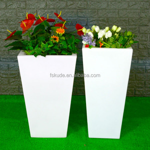 hot sale balcony plastic led flower pot with lights
