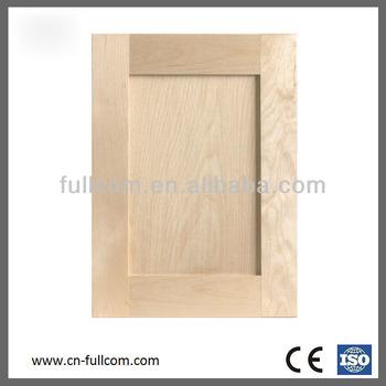 shaker style birch solid wood kitchen cabinet door ( nature wood