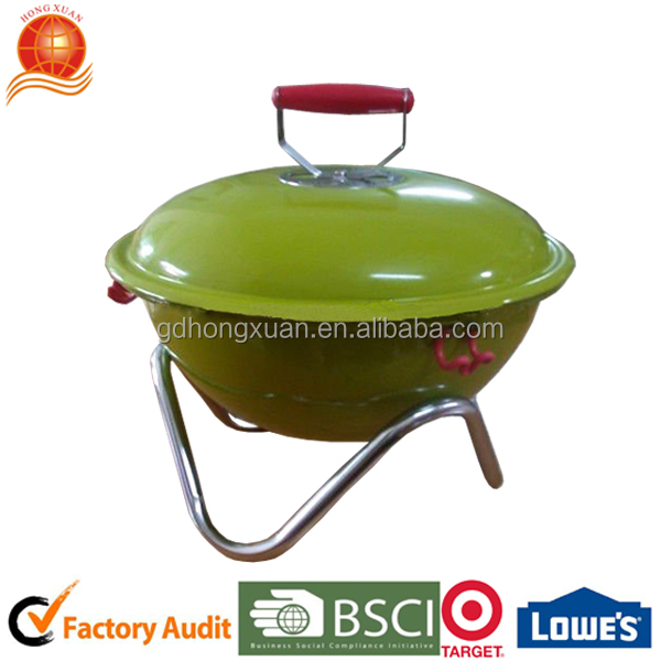 2016 New Design Bbq Charcoal Grill/green Power Coated Grill ...