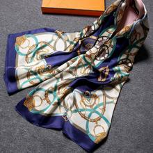 Silk Scarf wholesale China Custom design logo print real silk scarf