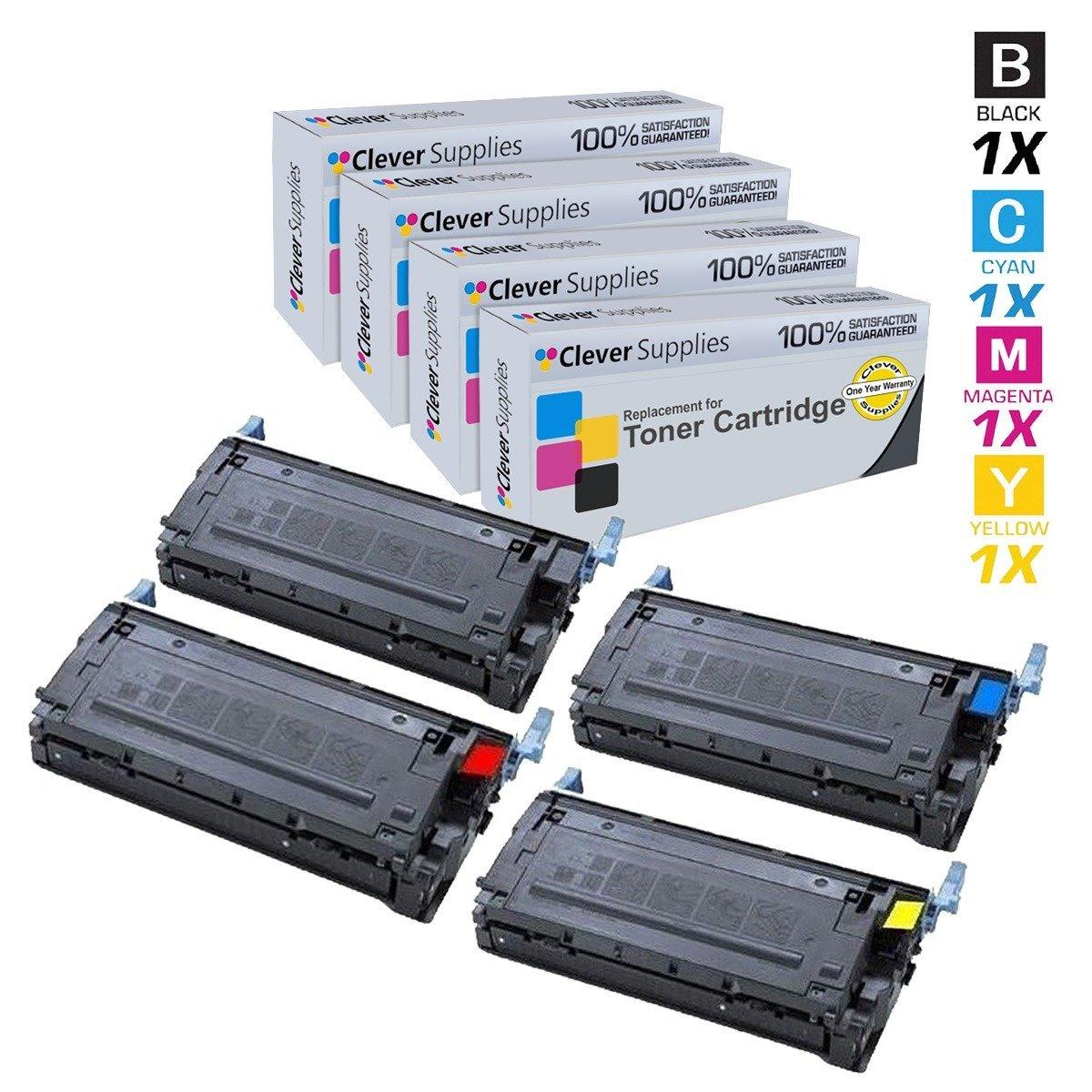 Get Quotations · Clever Supplies© Compatible Toner Cartridges 4 Color Set  for HP 4600 (C9720A, C9721A