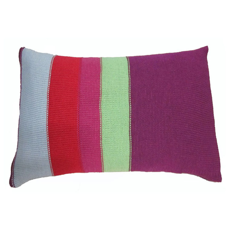 Szplh Colorful Triangle Pattern Knitted Cushion Cover Buy Knitted