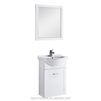 White Color Pvc Bathroom Vanity Canada