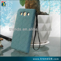 economic the lanyard design wallet PU cell phone case for samsung galaxy s3