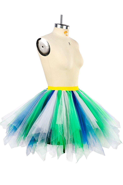 54a9c28b5c36 Get Quotations · Women's Short Vintage 1950s Short Tulle Petticoat Ballet  Bubble Tutu Puffy Underskirt