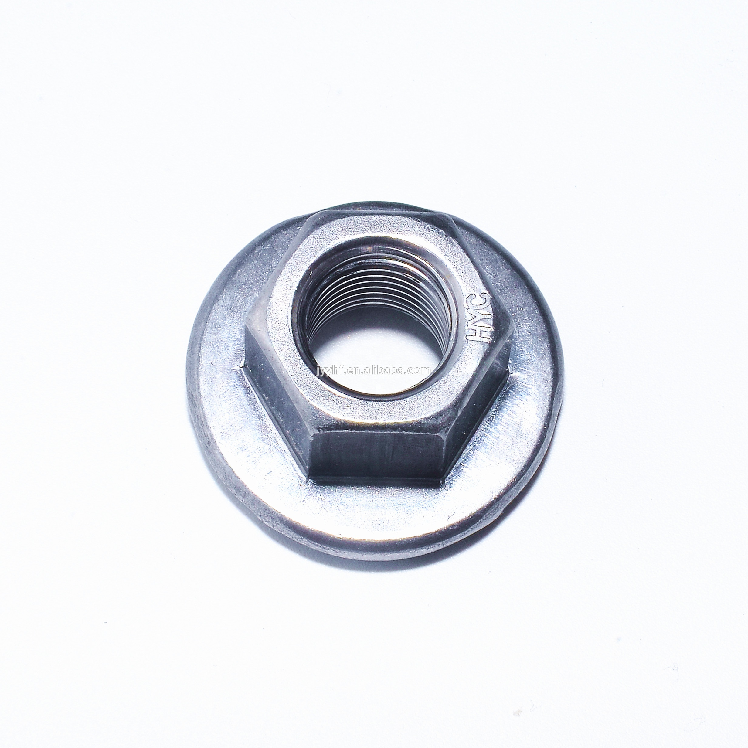 M10-1.5 Metric Hex Flange All Metal Lock Nut Class 10 DIN 6927 Zinc Plate 15
