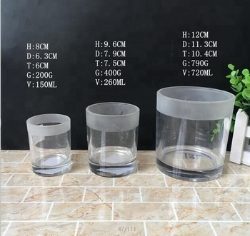 150ml 260ml mason style candle jar, glass container for candle