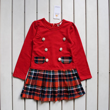 Latest fashion skirts red black plaid skirt
